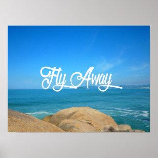Tiempo de viaje ausente de la mosca póster
