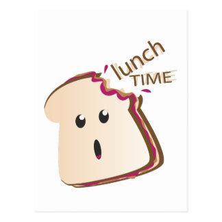 Tiempo del almuerzo tarjeta postal