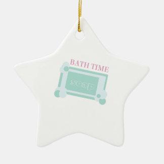 Tiempo del baño adorno de cerámica en forma de estrella