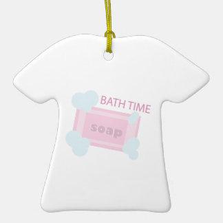 Tiempo del baño ornamento para arbol de navidad