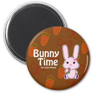 Tiempo del conejito imán redondo 5 cm