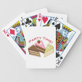 Tiempo del fiesta baraja de cartas