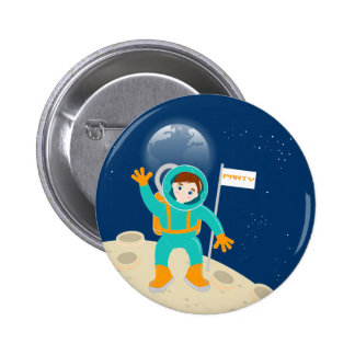 Tiempo del fiesta del astronauta del niño pequeño pins