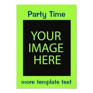 Tiempo del fiesta invitación 12,7 x 17,8 cm