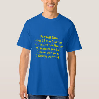 Tiempo del fútbol camiseta