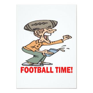 Tiempo del fútbol invitación 12,7 x 17,8 cm