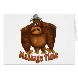 Tiempo del masaje tarjeta de felicitación
