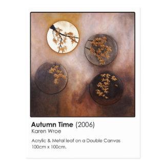 Tiempo del otoño postal