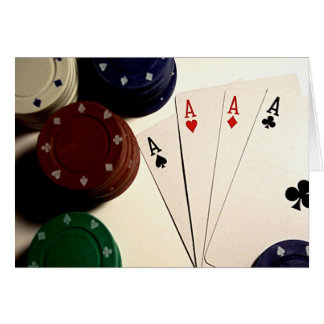 Tiempo del póker tarjeta pequeña