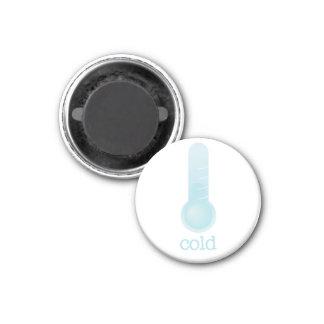 Tiempo del refrigerador - FRÍO Imán Redondo 3 Cm