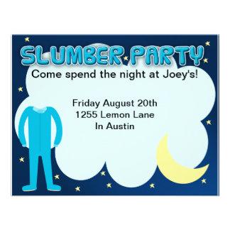 Tiempo del Sleepover de la fiesta de pijamas Comunicados Personalizados