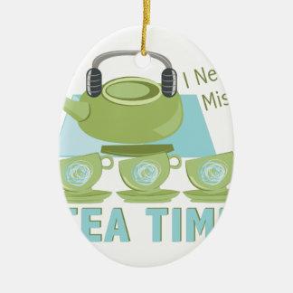 Tiempo del té adorno de cerámica