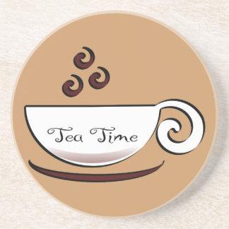 Tiempo del té posavasos cerveza