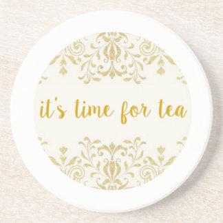 Tiempo del té posavaso para bebida
