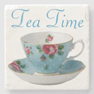 Tiempo del té posavasos de piedra