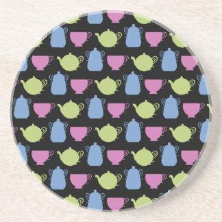 tiempo del té: potes y tazas del té posavasos cerveza