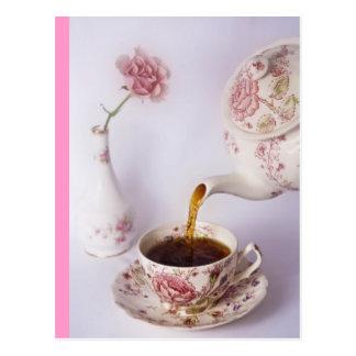 Tiempo del té postal