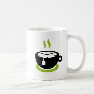 Tiempo del té taza básica blanca