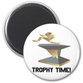 Tiempo del trofeo imán redondo 5 cm