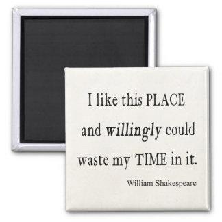 Tiempo dispuesto inútil esta cita de Shakespeare Imán Cuadrado