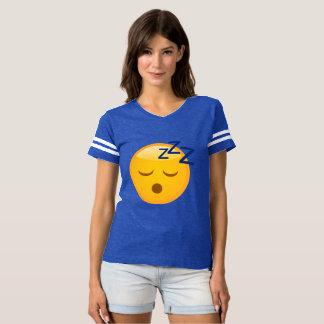 Tiempo Emoji de la cama Camiseta