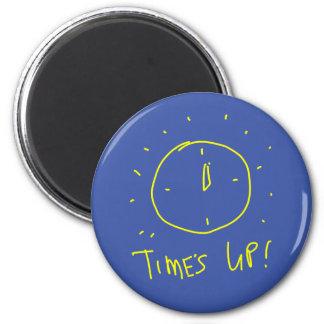 Tiempo encima del imán