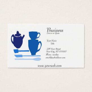 Tiempo inglés del té de la cocina de la acuarela tarjeta de negocios
