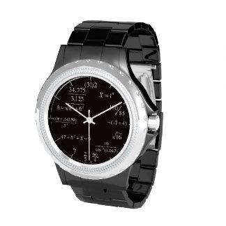 Tiempo matemático relojes