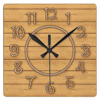 Tiempo occidental de la cuerda reloj cuadrado