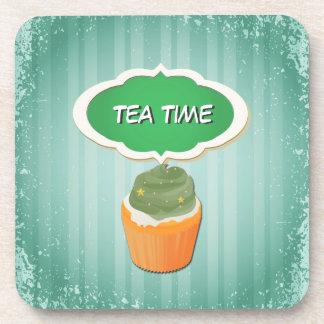 Tiempo precioso de la magdalena y del té: Rosado t Posavasos De Bebida