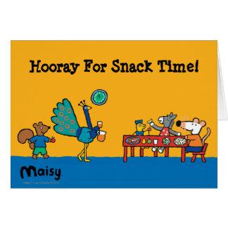Tiempo preescolar de Maisy y del bocado de los Tarjeta De Felicitación