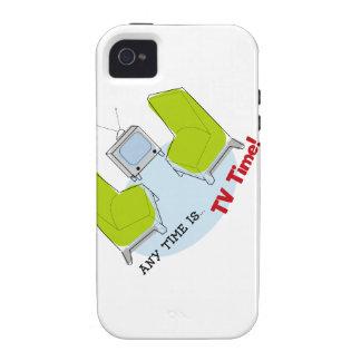 ¡Tiempo retro de la TV! Diseño iPhone 4/4S Funda