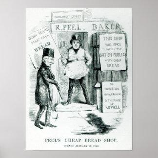 Tienda barata del pan de la cáscara póster