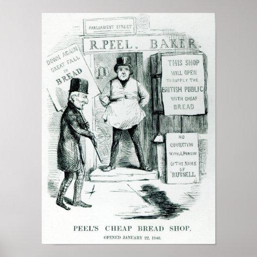 Tienda barata del pan de la cáscara posters