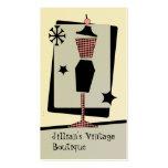 Tienda/boutique del vintage - forma del vestido tarjeta de visita