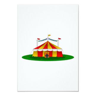 Tienda de circo invitación 8,9 x 12,7 cm