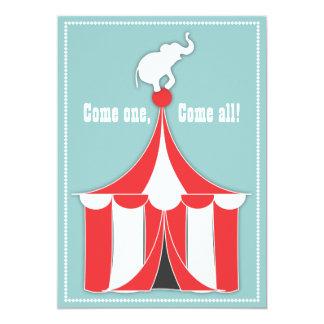 Tienda de circo y fiesta de cumpleaños de los invitación 12,7 x 17,8 cm