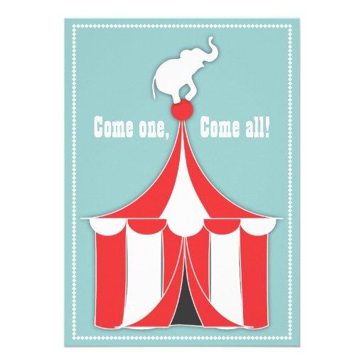 Tienda de circo y fiesta de cumpleaños de los niño anuncios personalizados