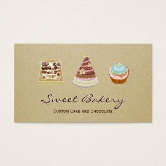 Tienda de encargo de la panadería del chocolate de tarjeta de negocios