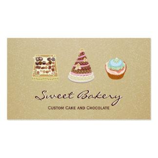 Tienda de encargo de la panadería del chocolate de plantillas de tarjetas de visita