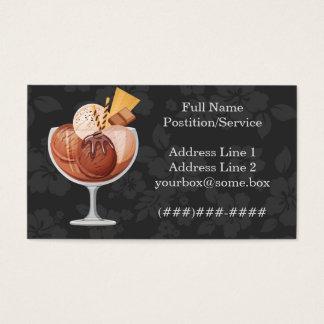 Tienda de helado tarjeta de negocios