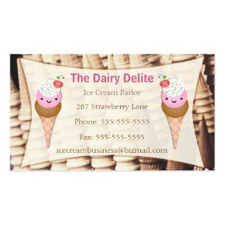 Tienda de helado/tarjeta de ParlorBusiness - perso Tarjetas De Visita