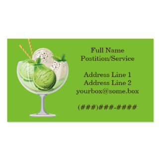 Tienda de helado tarjetas de visita