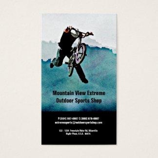Tienda de la bicicleta o tienda de los deportes al tarjeta de negocios