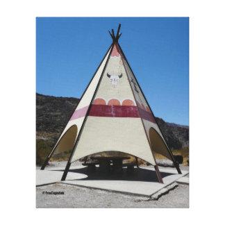 Tienda de los indios norteamericanos grande de la  lienzo envuelto para galerías