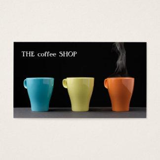 Tienda de moda moderna del té del café de la tarjeta de negocios