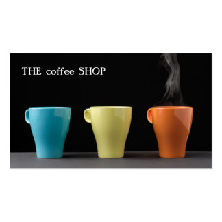 Tienda de moda moderna del té del café de la tarjetas de visita