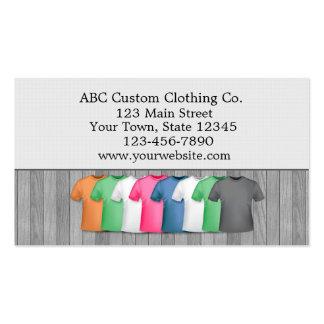 Tienda de ropa de la camiseta tarjetas de visita