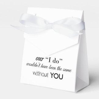 Tienda del favor del boda caja de regalos