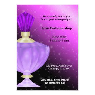 Tienda del perfume de la casa abierta invitación 12,7 x 17,8 cm